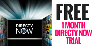 FREE 1 Month Directv Now Trial