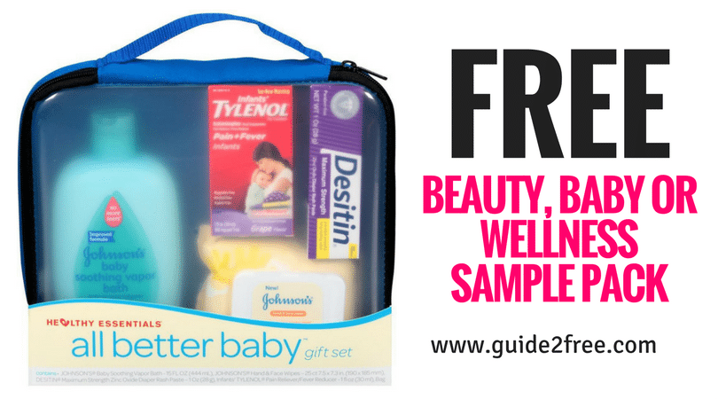 Free Beauty Baby Or Wellness Sample Pack Guide2free Samples