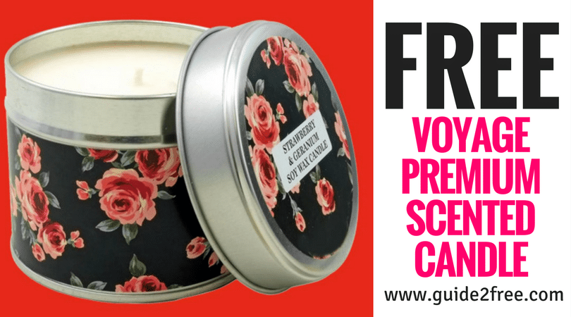 FREE Sample Voyage Premium Scented Candle