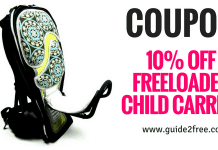 10% off Freeloader Child Carrier