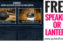 FREE Bluetooth Speaker or Dome Lantern