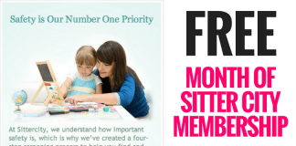FREE Month of Sitter City Membership