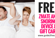 FREE Zmate Anti Snoring Device & Gift Card