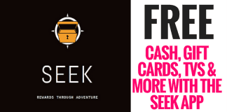 Cash, Gift Cards, TVs & More with the Seek App