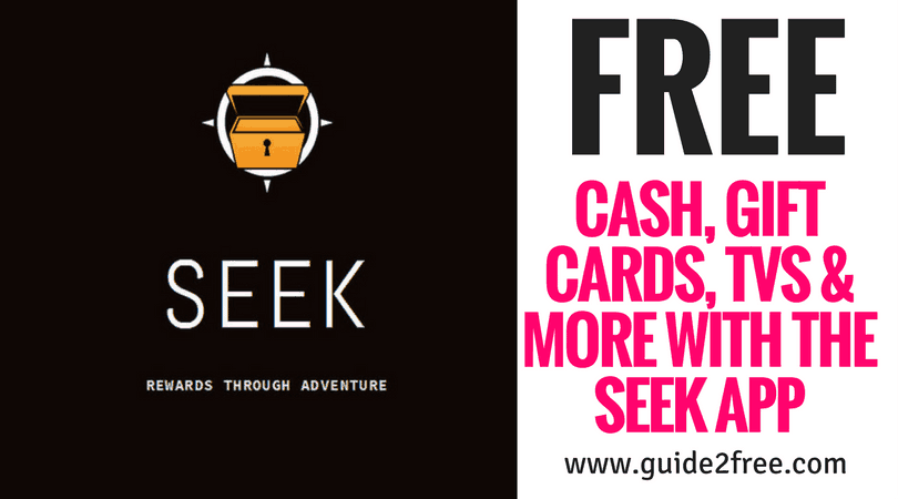 Win FREE Cash, Gift Cards, TVs & More with the Seek App
