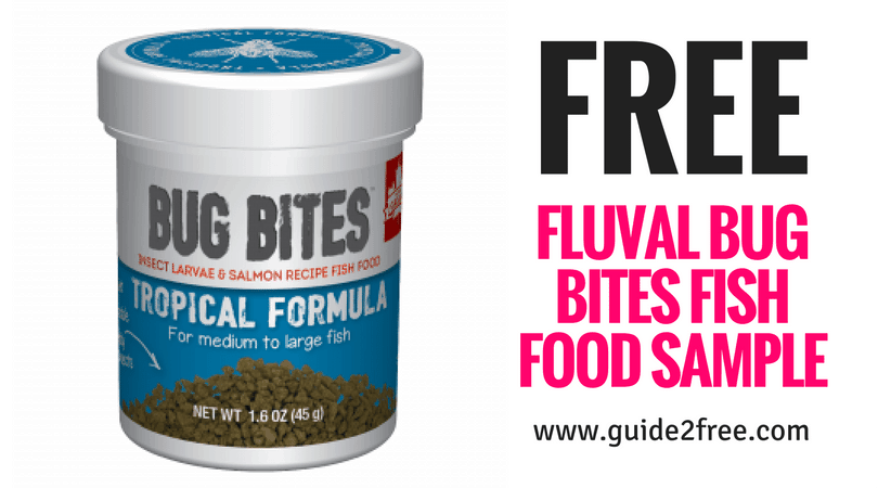 free fluval bug bites fish food sample guide2free samples