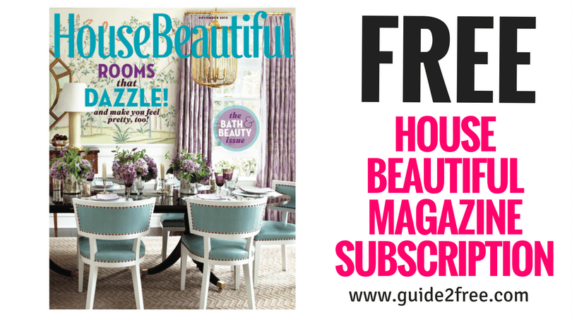 Free House Beautiful Magazine Subscription Guide2free