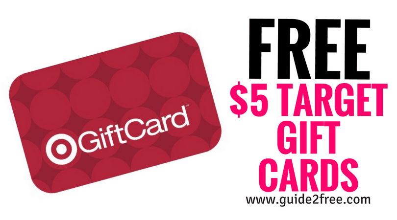 FREE $5 Target Gift Cards • Guide2Free Samples