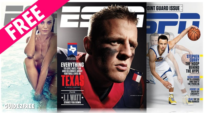 FREE ESPN Magazine Subscription • Guide2Free Samples