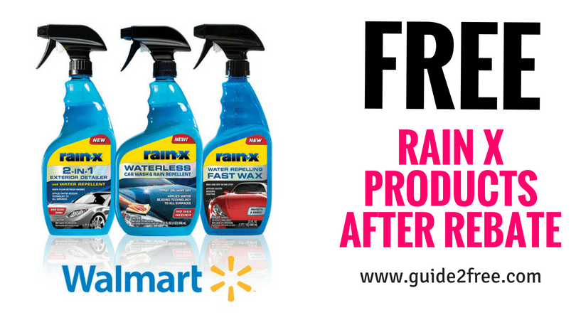 FREE Rain X Products after Rebate • Guide2Free Samples