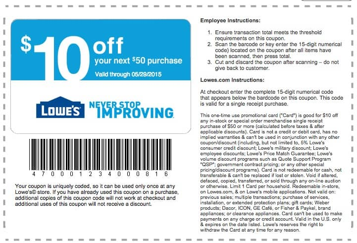 How To Get Unlimited Lowe S Coupons To Save 10 Every Day Guide2free Samples