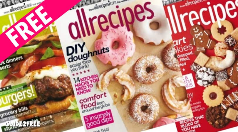 FREE All Recipes Magazine Subscription