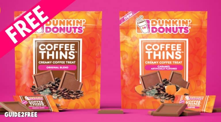 FREE Dunkin Donuts Coffee Thins