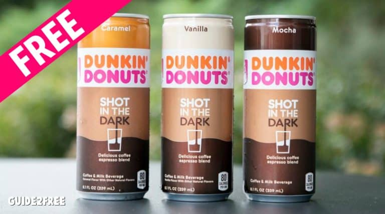 FREE Dunkin Donuts Shot in the Dark Coffee