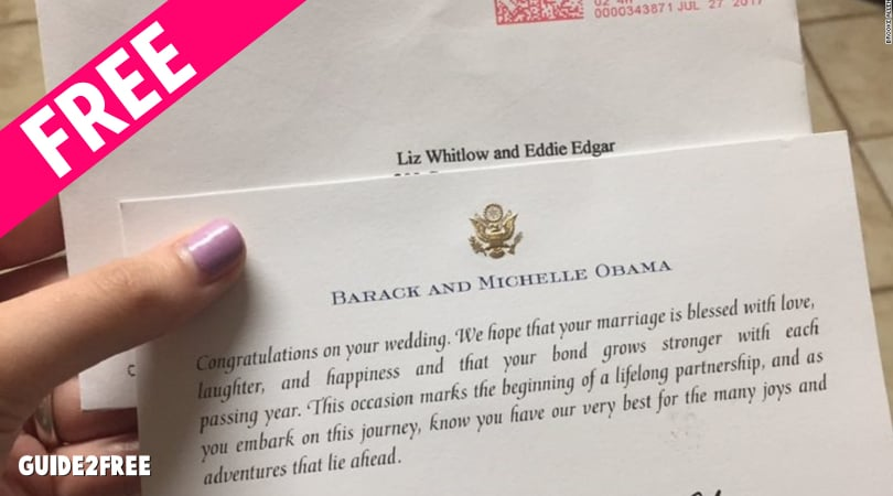 FREE Greeting from the Obamas