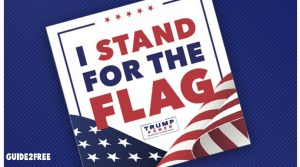 FREE I Stand For The Flag Bumper Sticker