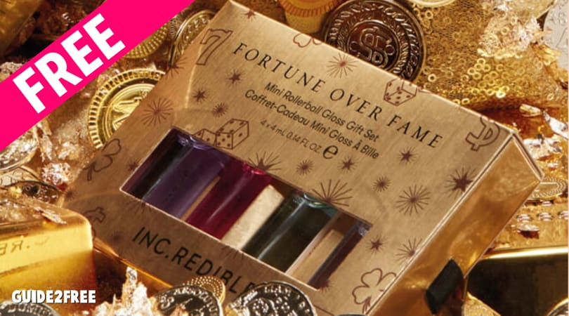 FREE INC.REDIBLE Fortune Over Fame Mini Rollerball Gloss Set