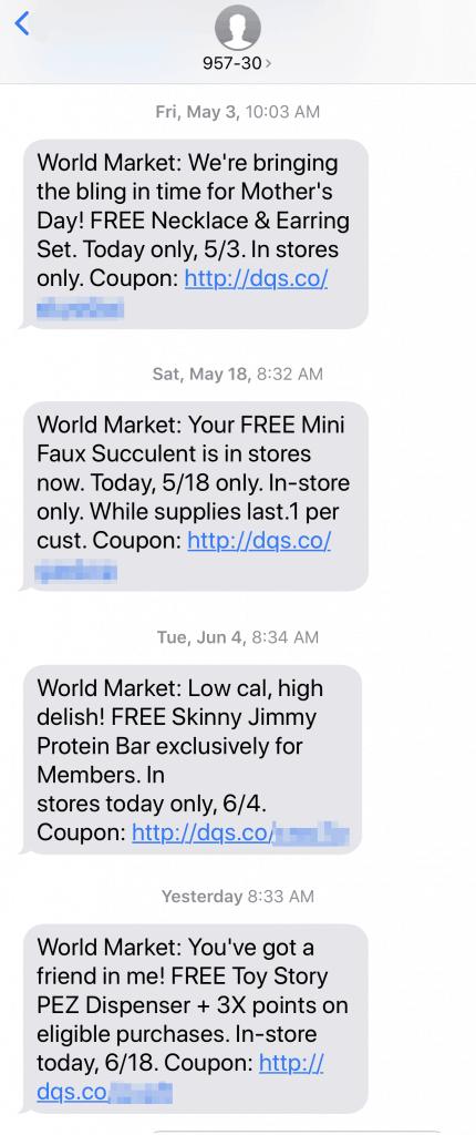 FREE Stuff at Cost Plus World Market