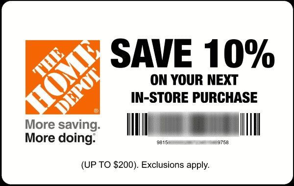 buy home depot coupons
