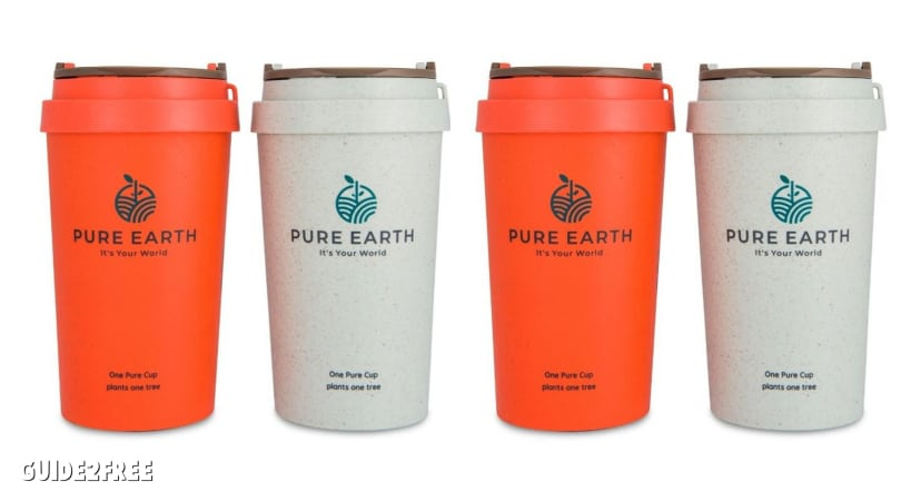 FREE Pure Earth Reusable Coffee Cup