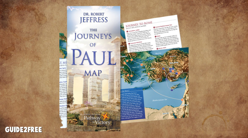 FREE Journeys of Paul Map
