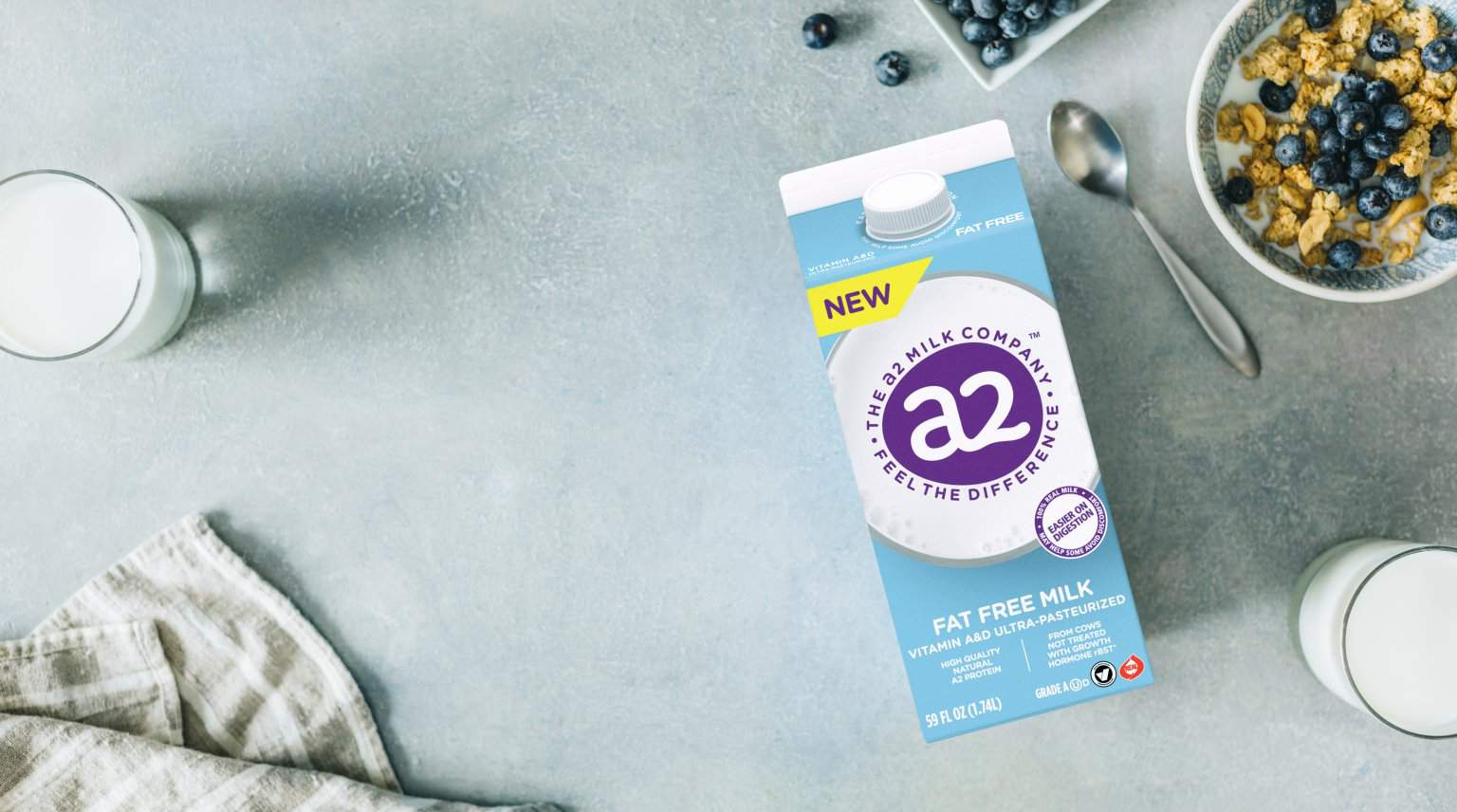 FREE Carton of a2 Fat Free Milk