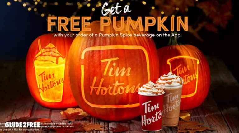 FREE Pumpkin at Tim Hortons
