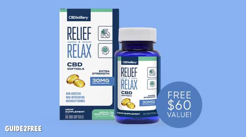 FREE Bottle of CBDistillery CBD Softgels